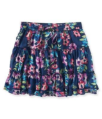 57bde47f5de Aeropostale Womens Sheer Floral Mini Skirt at Amazon Women's ...