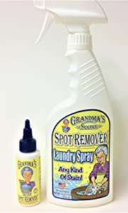 CESDes Grandma's Secret Spot Remover and Laundry Spray Bundle for Those Tough Spots