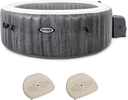 Intex 28441E PureSpa Greywood Deluxe 6 Person Portable Inflatable Hot Tub Jet Spa