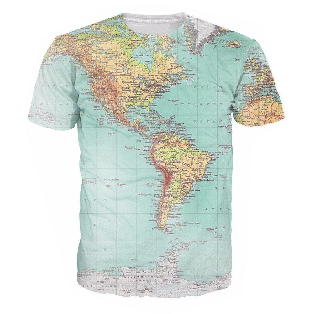 uideazone Unisex 3D-Druck Lustige Herren Kurzarm T-Shirts Bunt UK S-L:  Amazon.de: Bekleidung