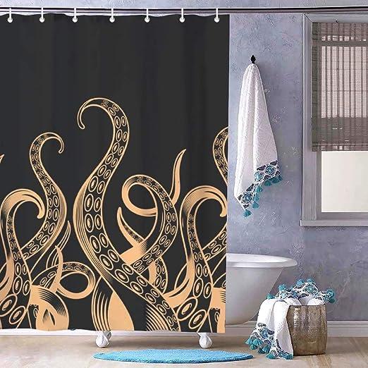 Amazon.com: Landscape Curtains with Hooks Bathroom Shower