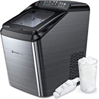 Ice Maker Machine for Countertop, 33 lbs Bullet Ice Cube in 24H, 9 Ice Cubes Ready in 7-10 Minutes, 2.8L Ice Maker…