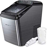 Dreamiracle Ice Maker Machine for Countertop, 33 lbs Bullet Ice Cube in 24H, 9 Ice Cubes Ready in 7-10 Minutes, 2.8L Ice…
