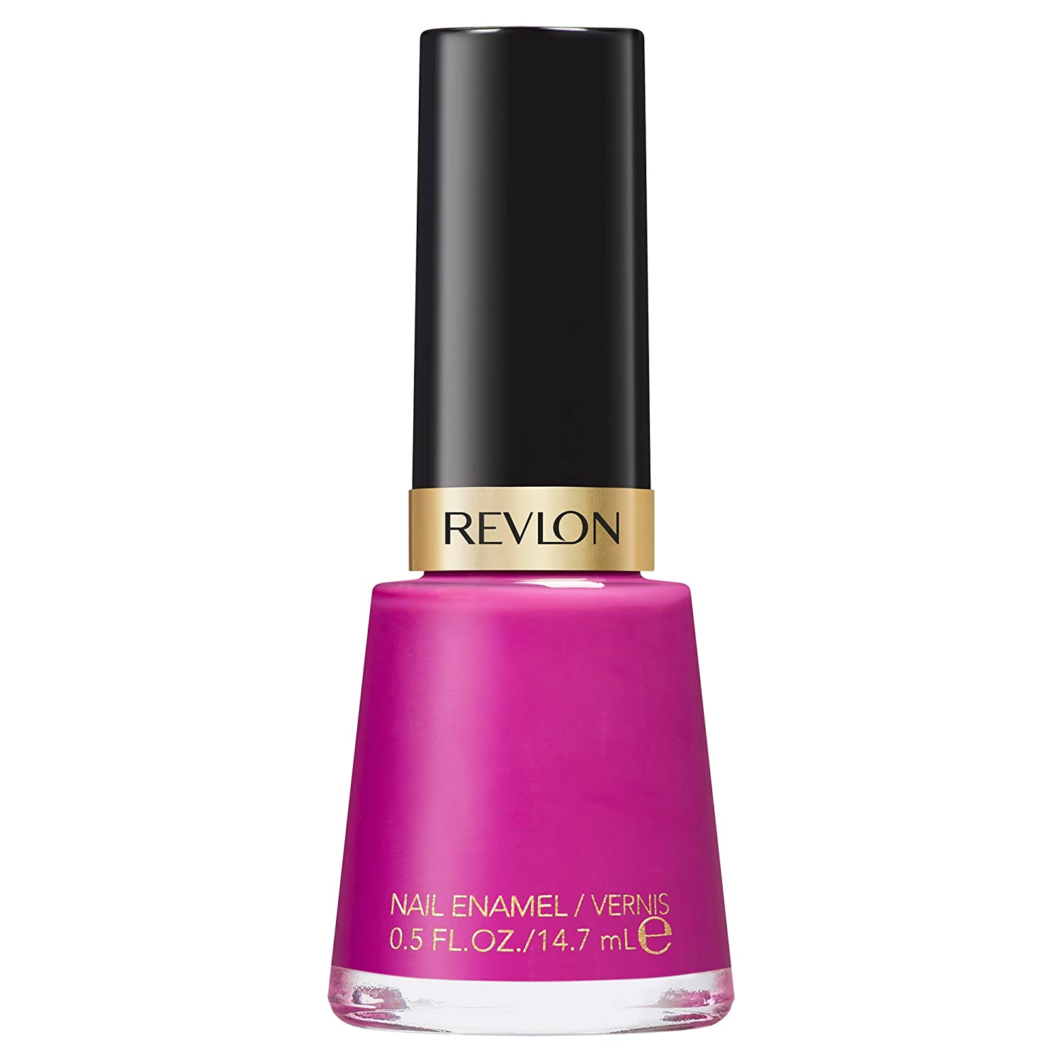 Revlon Nail Enamel, Chip Resistant Nail Polish, Glossy Shine Finish, in Plum/Berry, 917 Plum Seduction, 0.5 oz