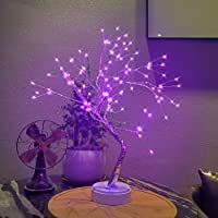Auelife 108 LED Fairy Light Tree lamp - DIY Artificial Bonsai Tree Lights, USB/Battery-Powered Touch Switch Warm Fairy…