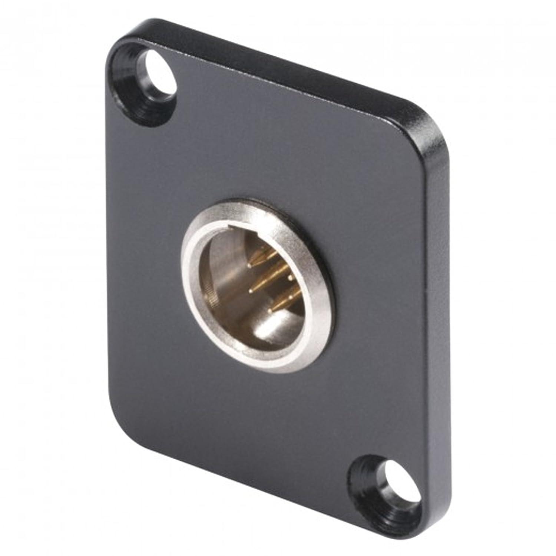 Hicon HI-XMEM4 Mini-XLR 4-pol Metall-,Löttechnik-Einbaustecker  Stecker