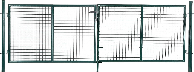 SONGMICS Puerta para jardín de Hierro 150 x 315 cm GGD300G