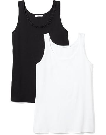 441ba6fb87a078 Daily Ritual Women s Lightweight 100% Supima Cotton Tank Top