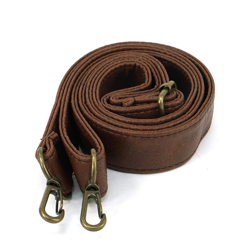Adjustable Pu Leather Brown Color Shoulder Strap for Any Bag Strap-05-Gold