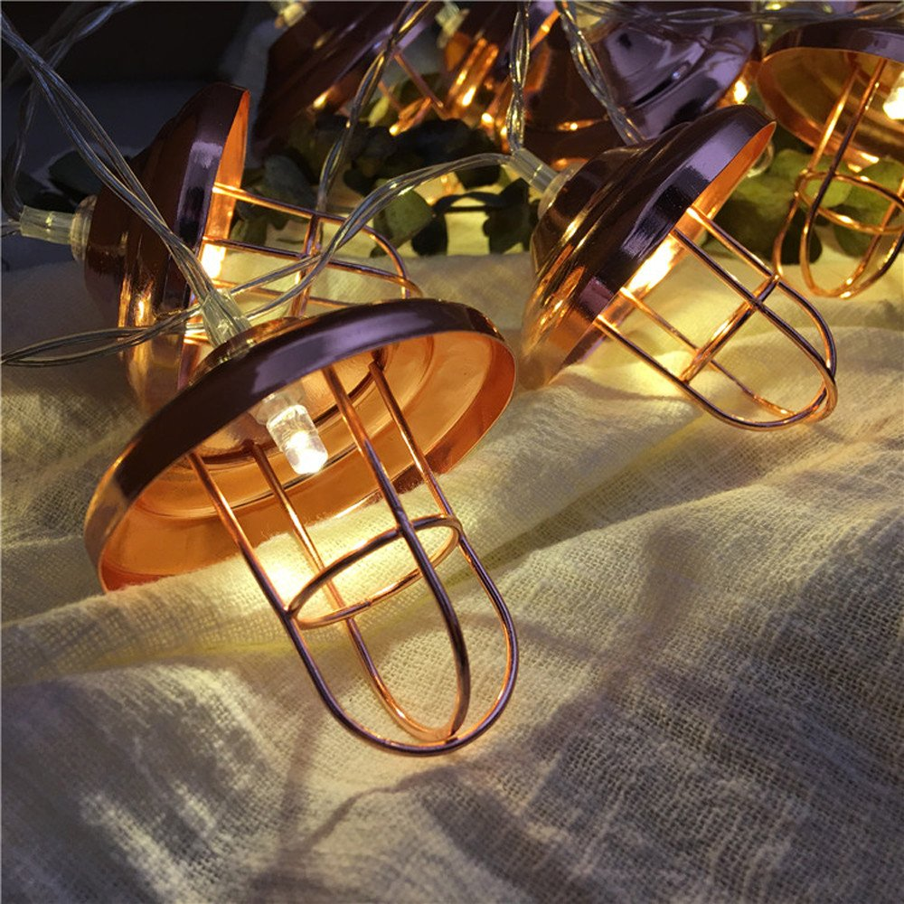 H+K+L LED Lampshade Lamp String with Battery Box Creative Romantic Home Christmas Celebration Decoration (20 LED)