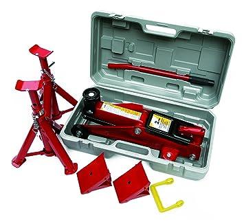 Hilka 82930240 Trolley Jack Kit In Bmc 2 Tonne Red Amazon Co Uk
