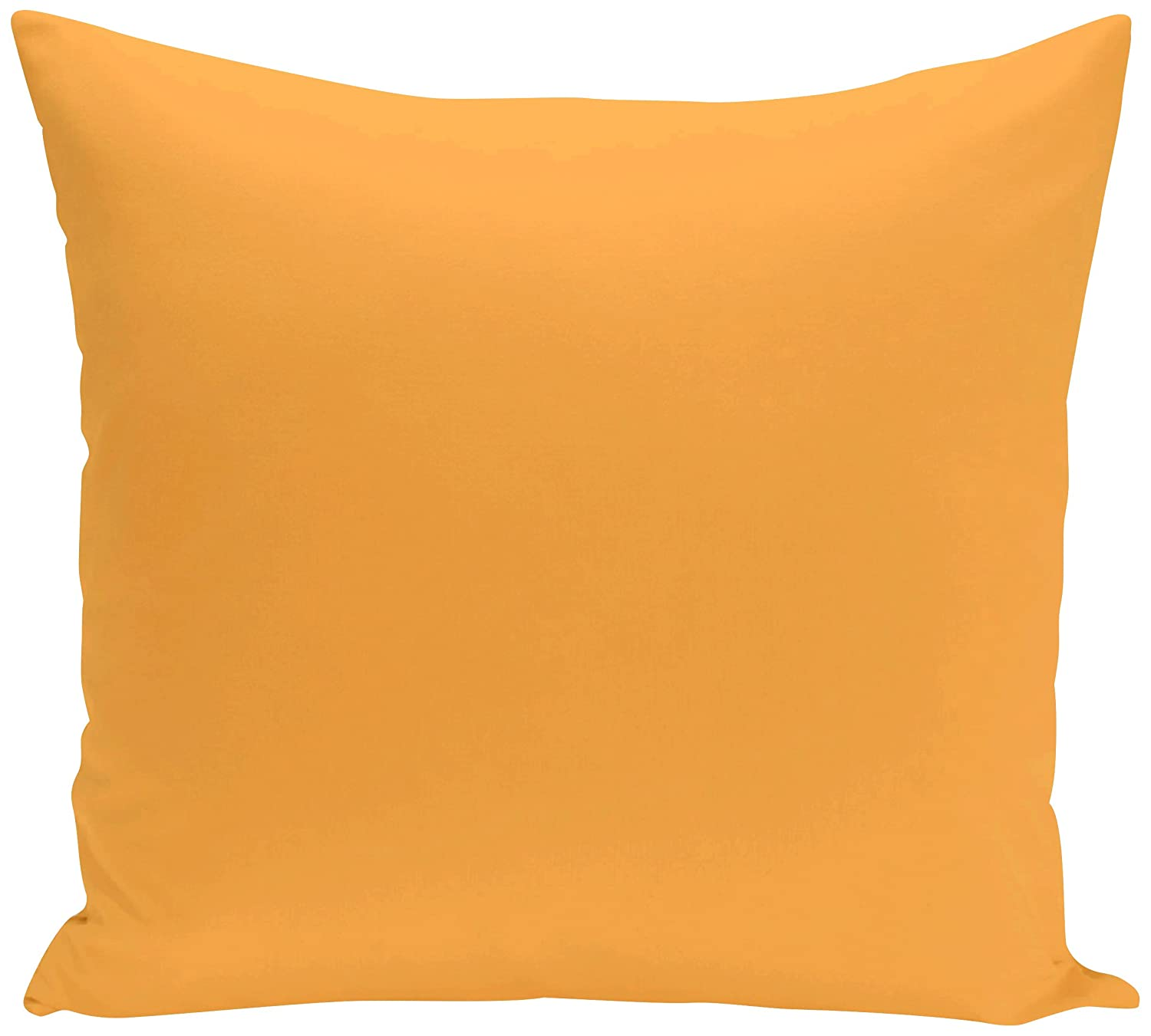 E by design PSOYE8-20 20 x 20-inch Solid Print Pillow Yellow 20x20,