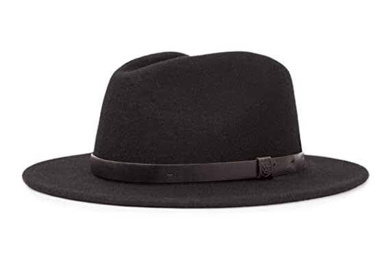 e14b8738 Amazon.com: Brixton Men's Messer Medium Brim Felt Fedora Hat: Clothing