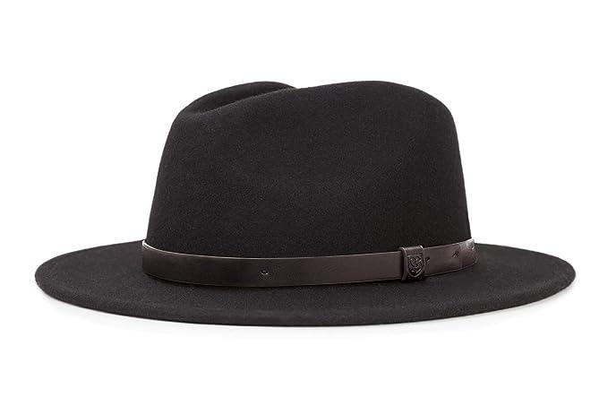 a50463583 Brixton Men's Messer Medium Brim Felt Fedora Hat