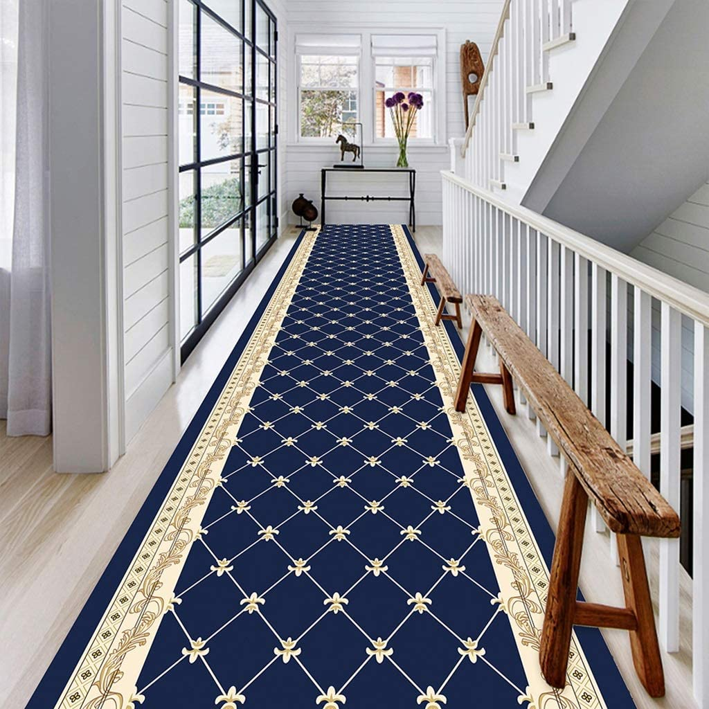 Passage Color : Blend, Size : 0.6/×1m//2/×3.3ft LIFFMallJC- Tapis Runner Escaliers Hall dentr/ée Support antid/érapant for Hall Couloir Cuisine Classic Design Clipable Machine Made Tapis