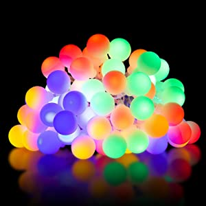 YOZATIA Battery Operated String Lights, 26.3ft 64 LED Fairy Lights 8 Modes with Remote Control, Waterproof Globe Starry String Lights for Bedroom, Garden, Christmas Tree, Wedding, Party(Multi Color)