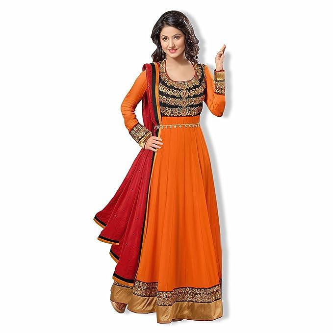 0ad14f93de Reya Women's Georgette Self design Anarkali Regular Wear Salwar Suit Dress  Material: Amazon.in: Clothing & Accessories