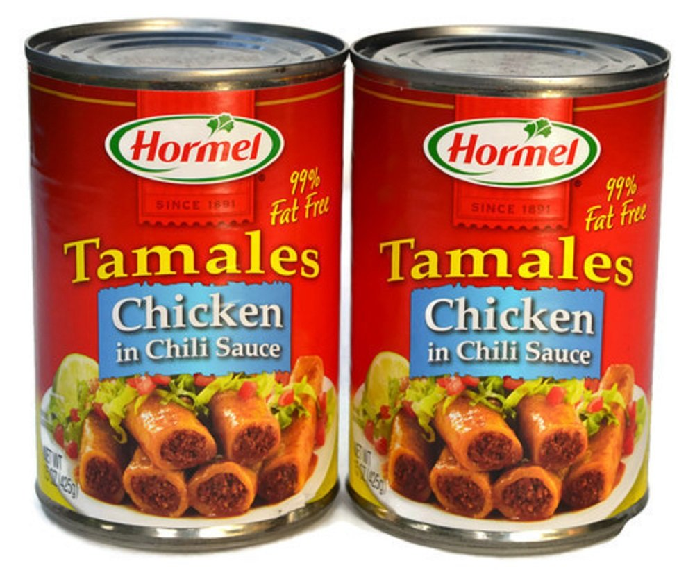 Hormel, Chicken Tamales in Chili Sauce, 15oz Can (Pack of 2)