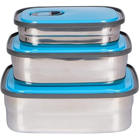 Amazon.com: Caja de almuerzo de acero inoxidable Bento 3 en ...