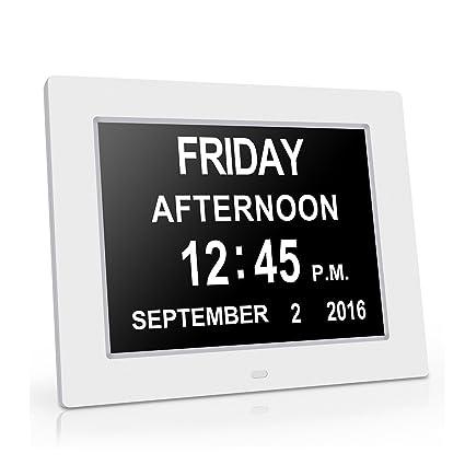 Gran reloj de pared Reloj digital original -La pérdida de la memoria digital Día Calendario