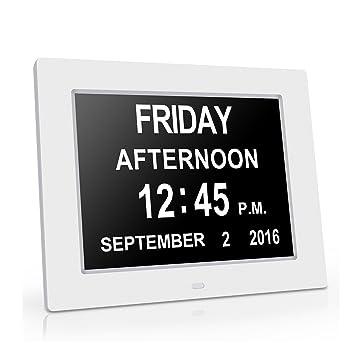 Gran reloj de pared Reloj digital original -La pérdida de la memoria digital Día Calendario Reloj ...
