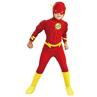 Rubie's - DC Comics The Flash Muscle Chest Deluxe Toddler/Child Costume: Toys & Games