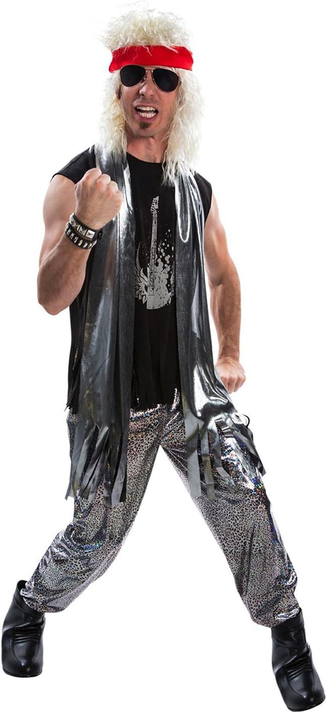 Disfraz de Glam Rock para Hombre de los años 80 balancín de Metal ...