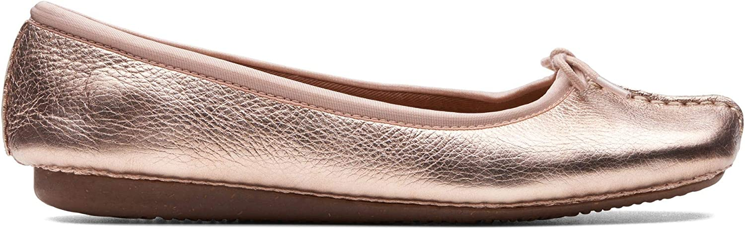 Clarks Womens Freckle Ice Ballet Flats