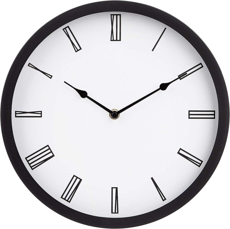 "AmazonBasics 12"" Roman Wall Clock, Black"