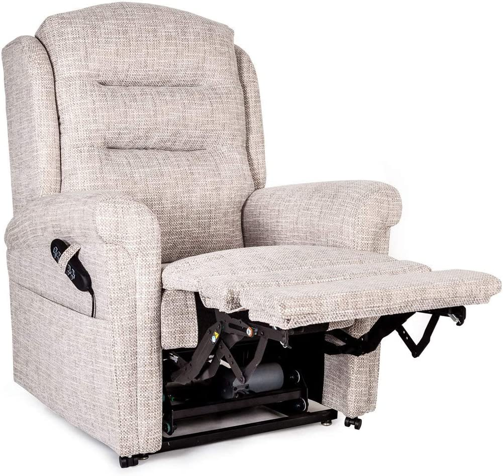 Bronte British Made Dual motor electric Riser recliner chair 5 Year Warranty Powered headrest and lumbar (Charcoal)