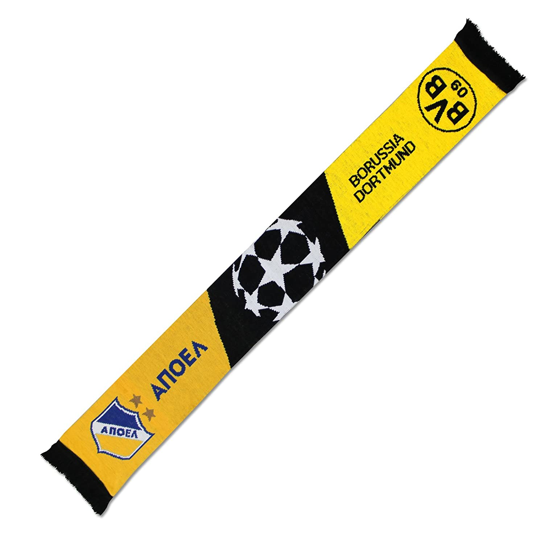 CL Champions League BEGEGNUNGSSCHAL Fanschal BVB APOEL NIKOSIA