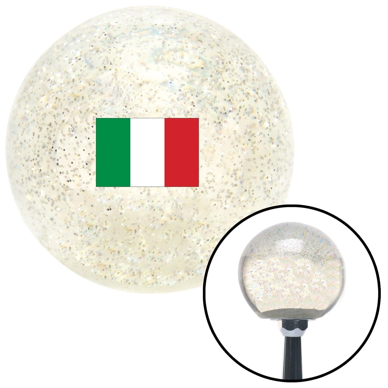 Italy Clear Metal Flake with M16 x 1.5 Insert American Shifter 305823 Shift Knob