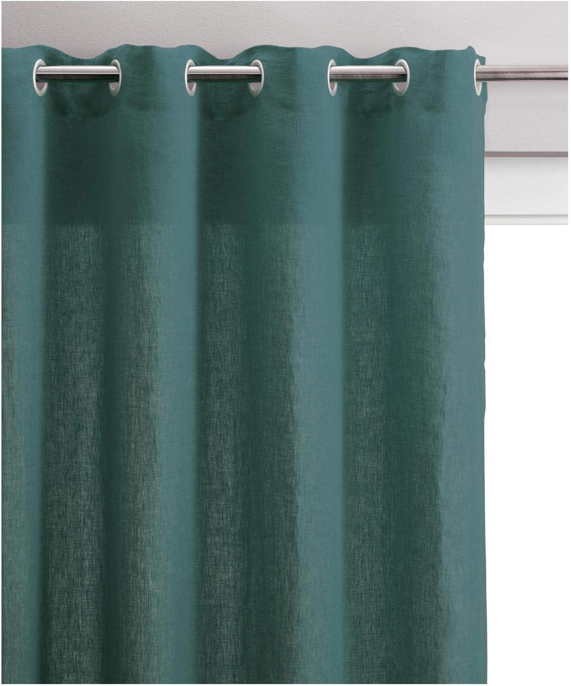 Zeff Vivaraise Chemin de lit Chemin de lit d/écoratif Chemin de lit Doux au Toucher 90 x 240 Recto 100/% Lin Verso 100/% Coton Garnissage 100/% Polyester