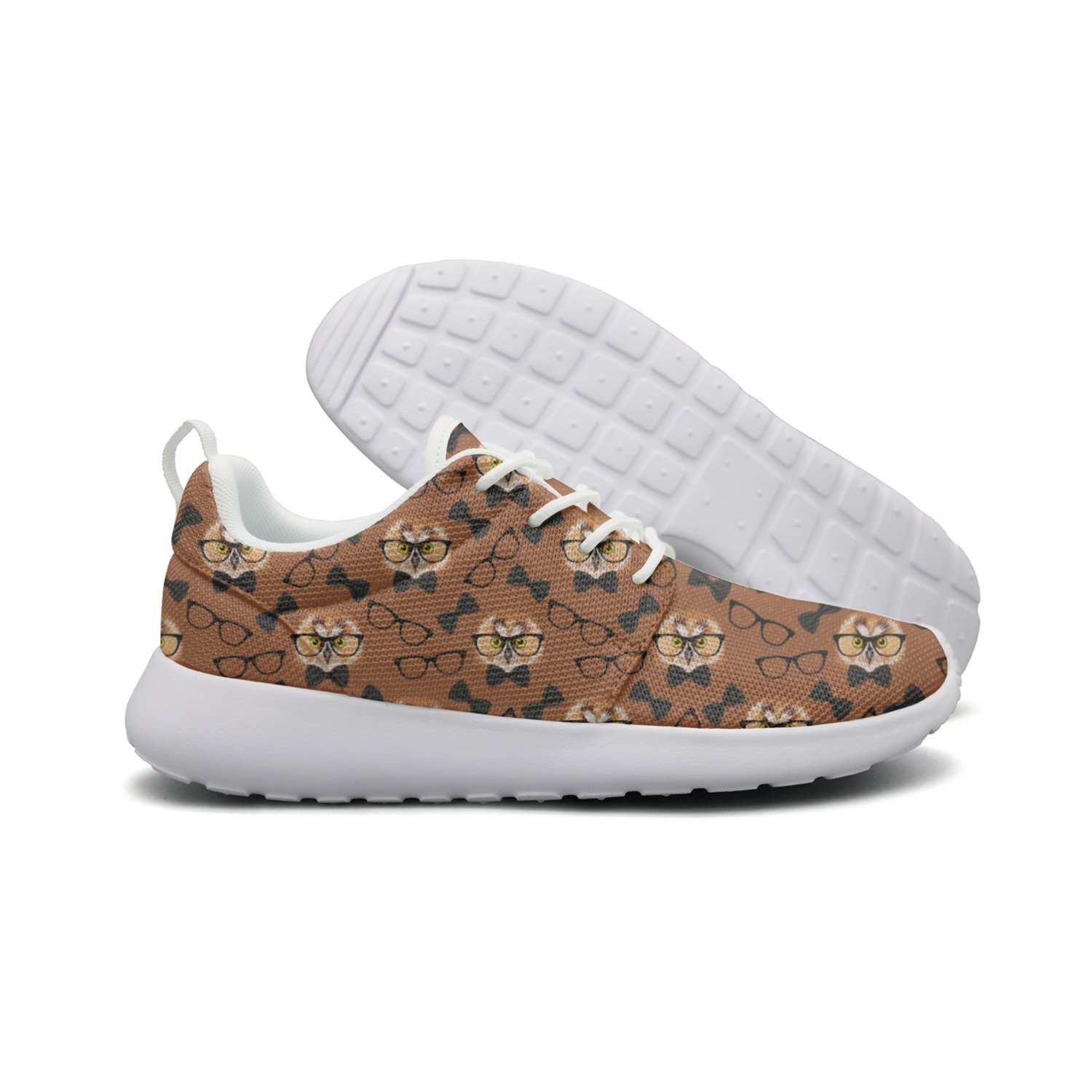 ERSER Owl With Glasses Woman's Camping Running Shoes Cool Colorful by ERSER