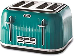 Oster 4-Slice Pop-Up Toaster, Teal (TSSTTRWF4S-NP)