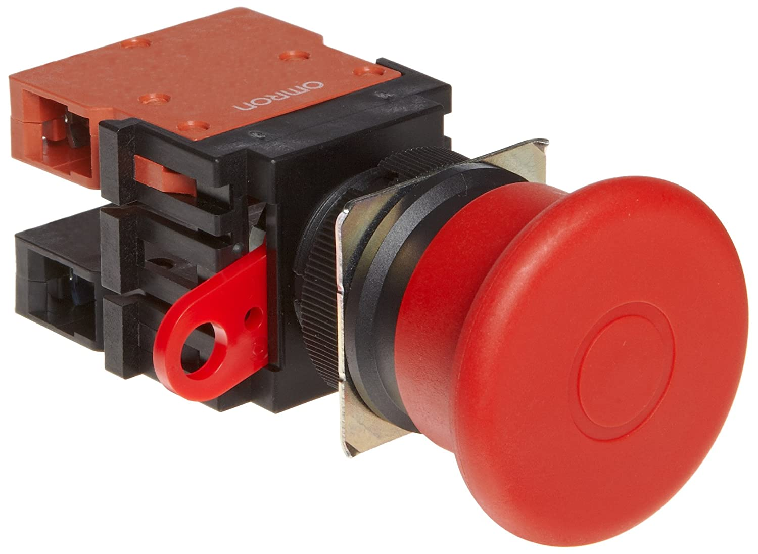 Push-Lock Turn-Reset Operation 40mm Diameter Omron A22E-MP-02 Emergency Stop Operation Unit and Switch Double Pole Single Throw Normally Closed Contacts IP65 Oil-Resistant Non-Lighted Screw Terminal Red