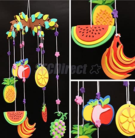Amazon Com Colored Kids Diy Craft Mobile Wind Chime Handcraft