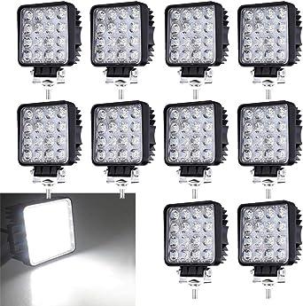 LED Arbeitsscheinwerfer 10x 27W IP67 Offroad Zusatzscheinwerfer Quadrat 12-24V#
