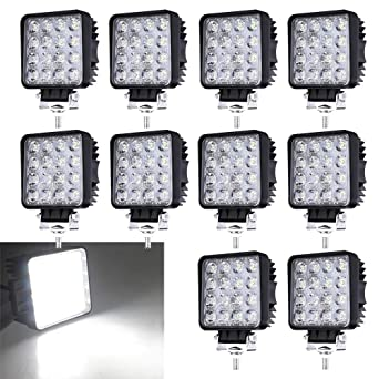 10 X 48 W Led Work Light 12 V 24 V Flood Light Offroad