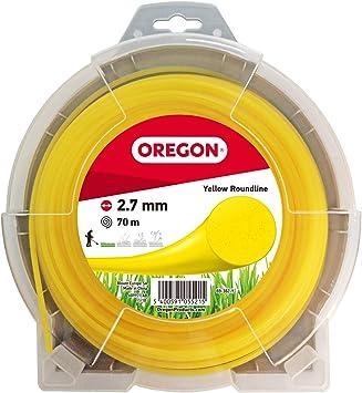 Oregon 69-382-Y Hilo de cortacésped redondo amarillo para cortadoras de césped y desbrozadora, 2,7 mm x 70 m, 2.7mm x 70m: Amazon.es: Bricolaje y herramientas