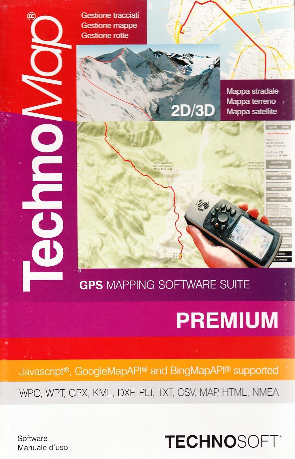TechnoMap Premium  GPS mapping software  Con 3 CD-ROM: 9788889429952