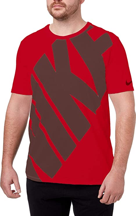 4cefcc04 Image Unavailable. Image not available for. Color: Nike Men's Dry DFC Block Graphic  Tee(University Red ...