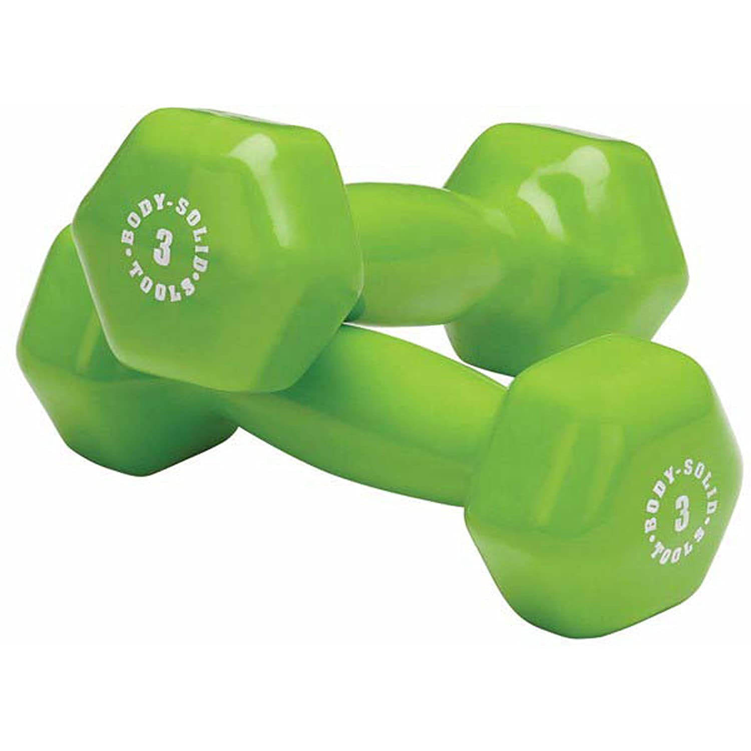 Amazon.com: Body Solid Tools BSTVD3 3-Pound Vinyl Dumbbell ...