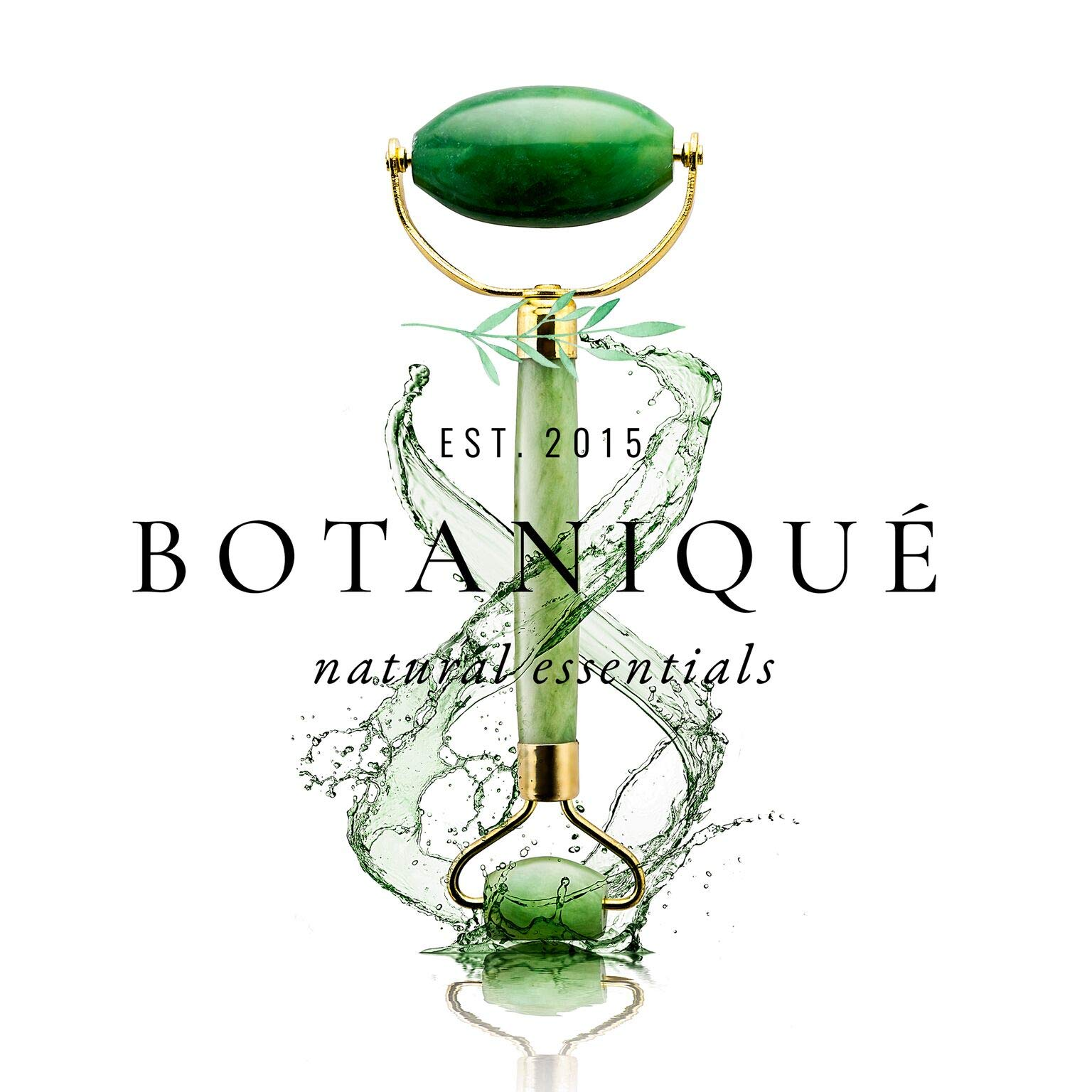 The Original Botaniqué Anti Aging Jade Roller||100% All-Natural Facial Massager Roller for Healing, Facial Slimming, Wrinkles||Face Neck Body Eyes||Rejuvenates Skin Clears Toxins Reduces Puffiness
