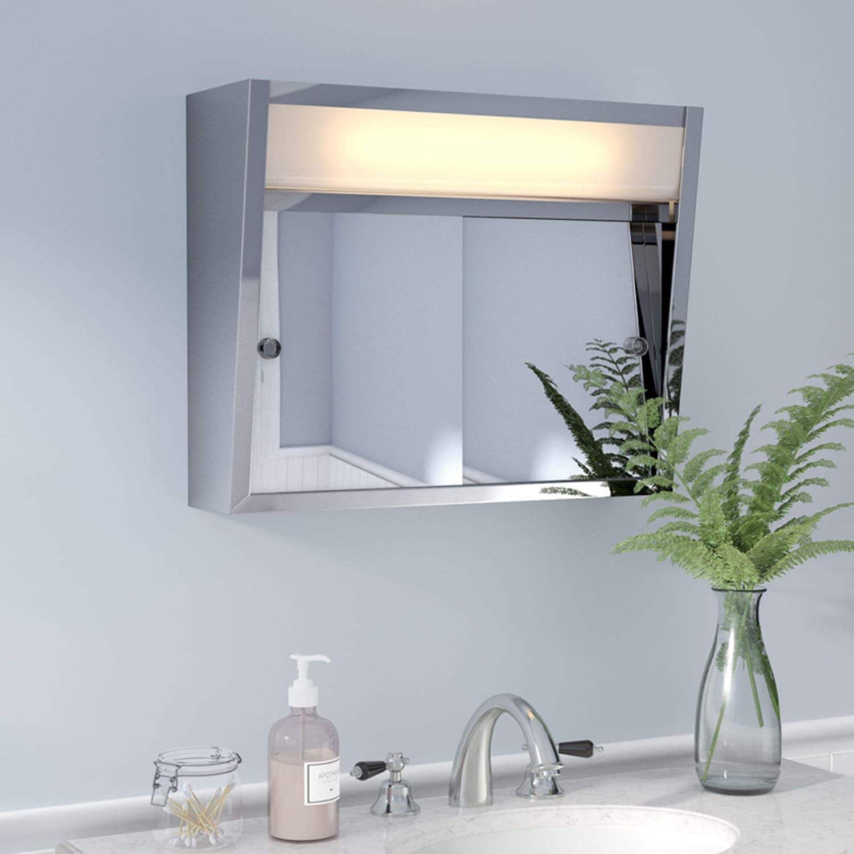 Amazon Com Jensen 869p24whgx Polished Edge Mirror Medicine Cabinet 15 X 26 White Home Improvement