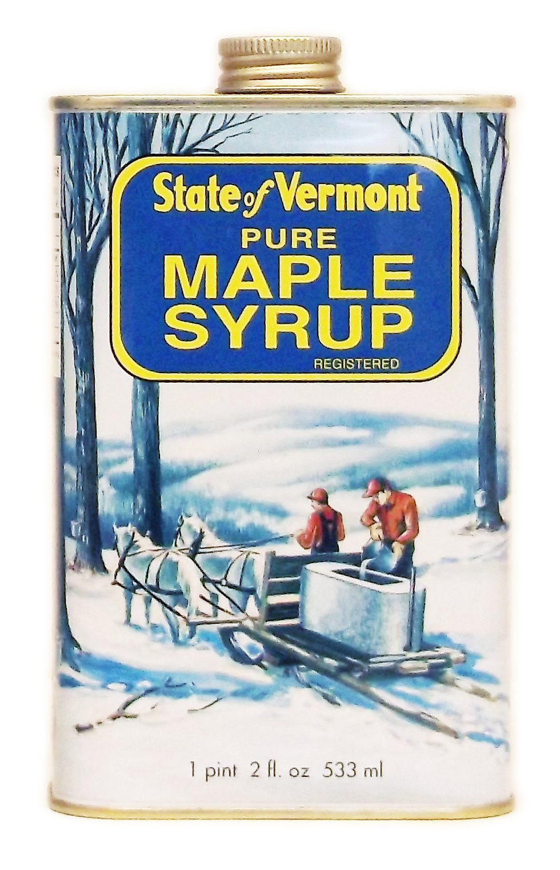 Ferguson Farms 100% Pure Vermont Maple Syrup, Grade A Fancy Light, Vermont Tin 1 Pint 2 fl. oz. (18oz)
