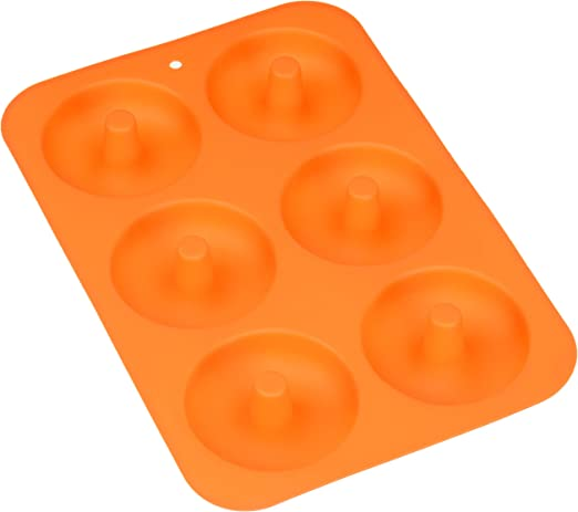 Silicone Bake Full Size Perfect Shaped Doughnuts to Sweeten YourHole Day Non-Stick Mold LETOOR 2-Pack Donut Baking Pan