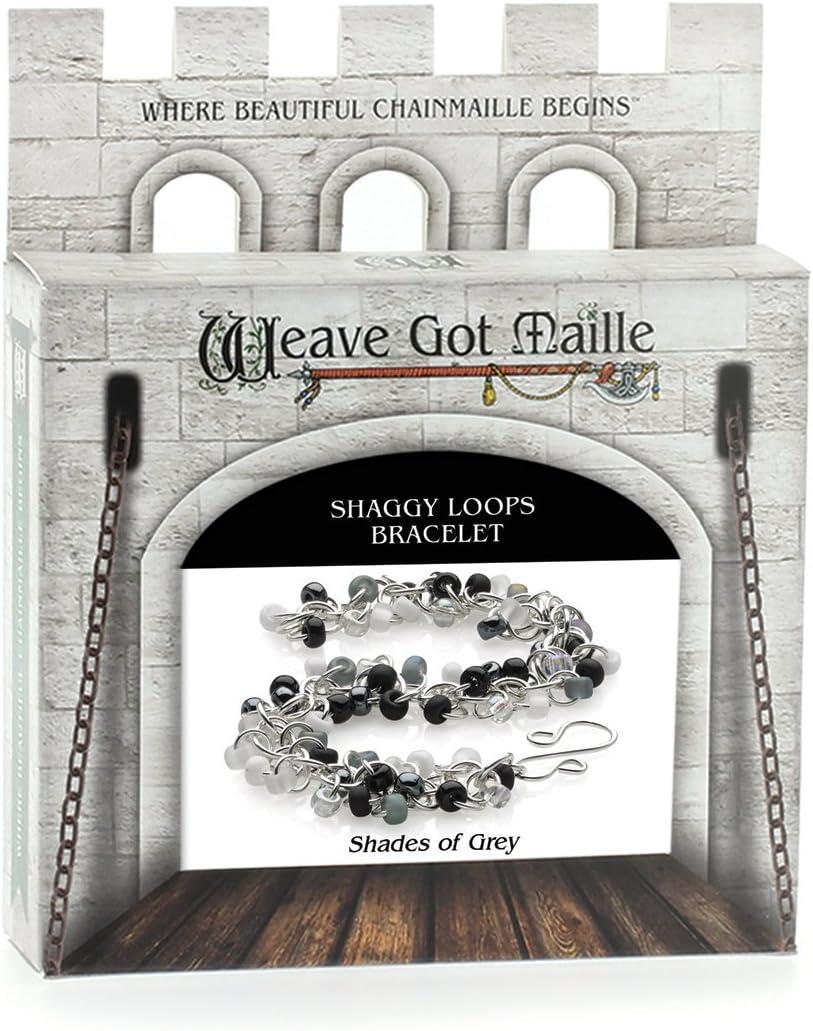 Aqua Mist Weave Got Maille Shaggy Loops Chain Maille Bracelet Kit