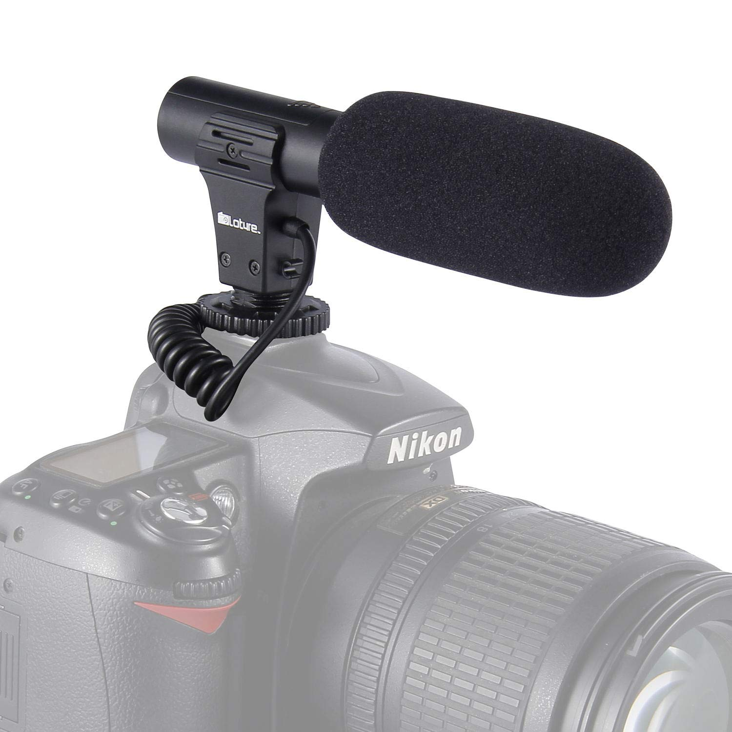 Video Microphone, Photography Interview MIC Microphone Compatible Sony, Nikon Canon,DSLR Cameras, Camcorders. (3.5mm Interface)(Except for Canon T5i,T6) by PLOTURE