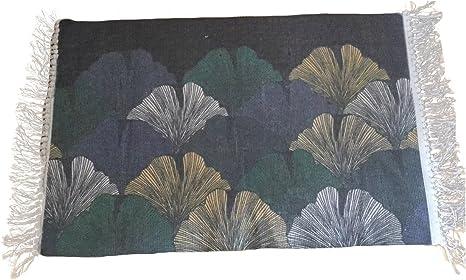 DUOSHIDA Manta tejida a mano (100% algodón peinado) para yoga Zen ...